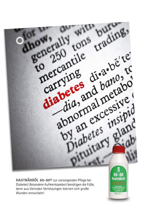 Hautnähröl Diabetes